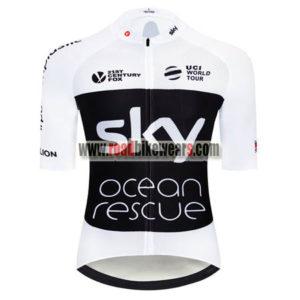 ... 2018 Team SKY Castelli Ocean rescue UK British Biking Jersey Riding  Shirt White Black 902d7845b