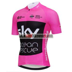 7a2501da7 2018 Team SKY Castelli Ocean rescue UK British Cycling Jersey Riding Shirt  Pink Black ...