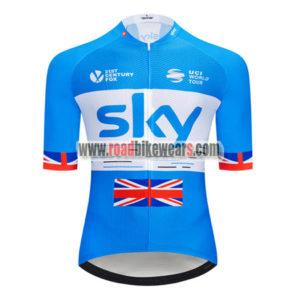 ... 2018 Team SKY Castelli UK British Cycling Jersey Riding Shirt Blue White 0d1287cb2